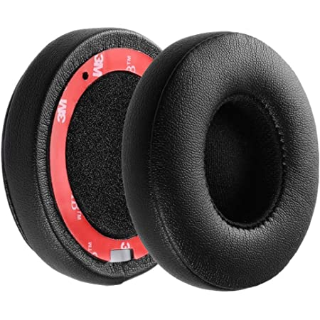 Ear Pads Cushions for Beats Solo Replacement Memory Foam Earpads Cushions Compatible with Solo 2 & 3 Wireless On-Ear Headphones, Left/Right Pair (Black)