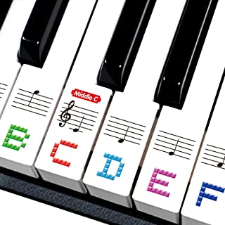 Colorful Piano Keyboard Stickers for 88/61/54/49/37 Key. Lar