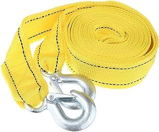Cabo de reboque para carro Homyl 4M resistente de 5 toneladas, puxador de corda, ganchos amarelos