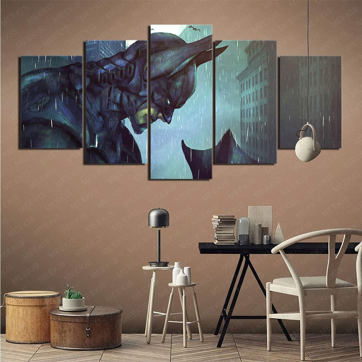 mmkow Flache K/ünstler Leinwand 5 St/ück Set Fahrzeug Toyota Foto Home Decoration Artwork 50x100cm Rahmenlos