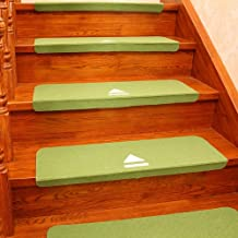 Stair Pads Carpets Stair Tread Pads Non Slip Adhesive Carpet Noctilucent Pads Set of Stair Rugs Modern Abstract Carpet Mul...