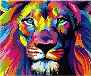 5D DIY Diamond Painting - Animal Resin Cross Stitch Kit - Crystals Embroidery - Home Decor Craft (Lion)