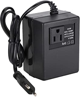 para viajes EU Plug convertidor de voltaje de 300 W EU Plug 50 Hz // 60 Hz AC 220 V a 110 V Fafeicy Adaptador de enchufe