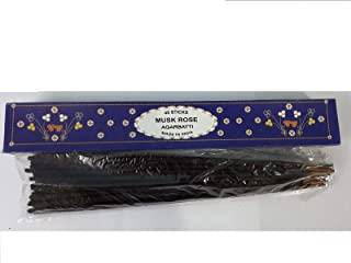 Musk Rose Agarbatti 40 Incense Sticks Hand Rolled Incense