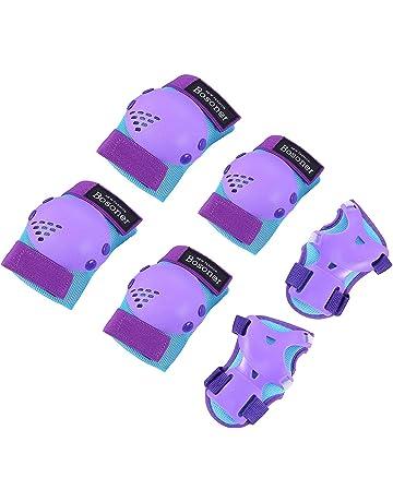 Kids Protective Gear Set 6 in 1 Kit Knee Elbow Waist Guards Adjustable Strap Thicken Pads Multi Sports Safe Guard for Kids Cycling//Roller//Skating//BMX//Bike//Skateboard CRZKO Kids Knee Pads