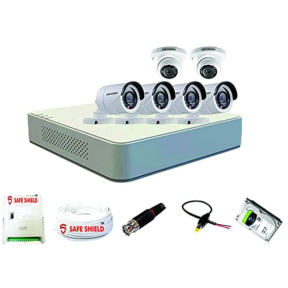 HIKVISION 1080p HD CCTV Camera with Speedlink Cable and Power Supply Surveillance kit, White