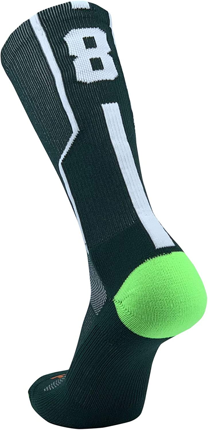 Gifts TCK Player ID Jersey Number Crew White Special price for a limited time Singles Socks Green Dark
