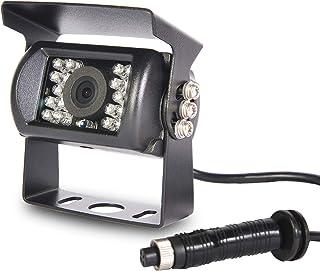 4 Pin Backup Camera,Enhenstre Reverse Camera, 140 ° Wide Angle, 18 IR Night Vision,IP68 Waterproof for Trucks,RVs,Trailer... photo