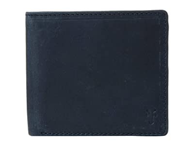 Frye Logan Billfold (Navy Antique Pull Up) Wallet Handbags