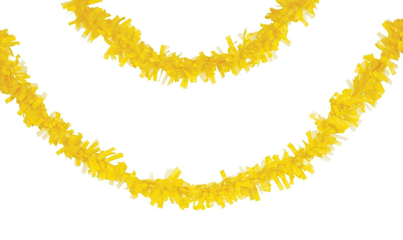 Creative Converting 315315 Tissue Garland, 25', Mimosa