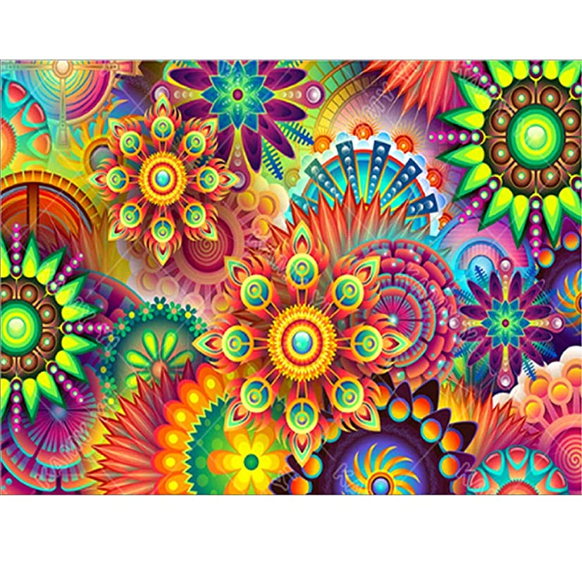 DIY 5D Diamond Painting by Number Kit,Flowers Paintings for Wall,5d Diamond Art Rhinestone Embroidery Cross Stitch Kits Supply Arts Craft Canvas Wall Decor Stickers 12x16 inches