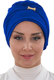 Bonnet for Women Instant Chiffon Scarfs Head Wrap Lightweight Muslim Turban Cap