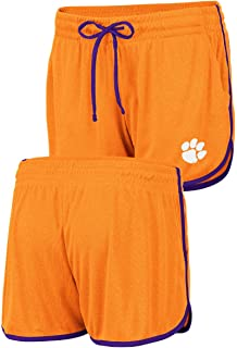 Women's NCAA Toulon Polyester Gym Style Shorts (Small, Clemson Tigers)