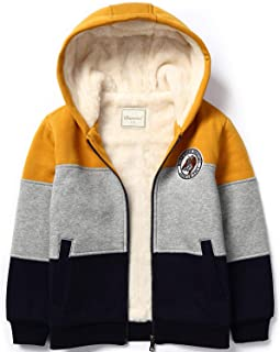 Bumeex Boys Sherpa Fleece Lined Jacket,Zip up Sweatshirt Hoodie