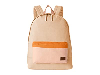 Roxy Sugar Baby Canvas Color Block Backpack (Ivory Cream) Backpack Bags