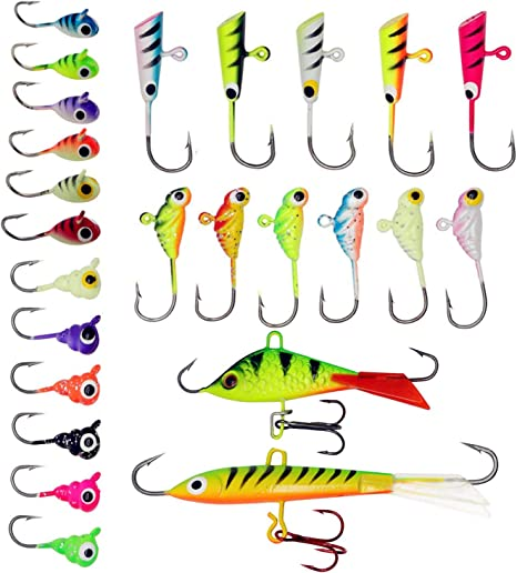 ZWMING Ice Fishing Jigs Kit