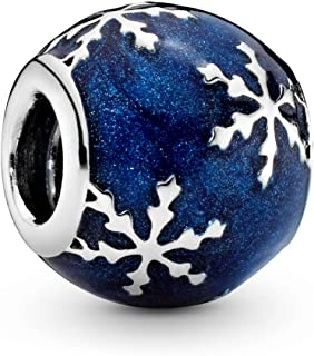 Pandora Jewelry - Wintry Delight Charm in Sterling Silver with Midnight Blue Enamel