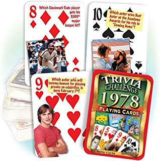 Flickback Media, Inc. 1978 Trivia Playing Cards: 41st Birthday or 41st