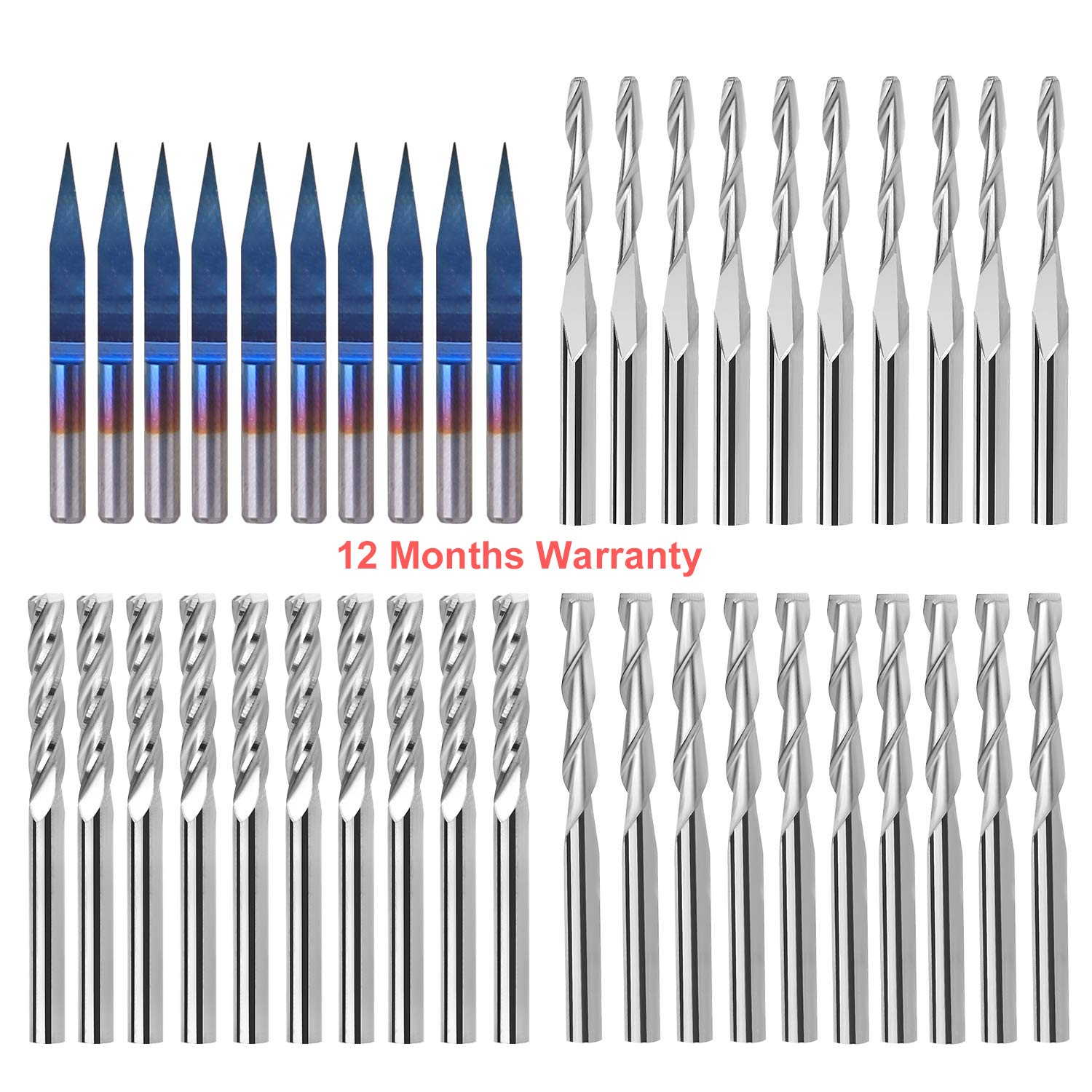 3mm Dia-25mm Flute Length-50mm Full Length, for Aluminum Wkstool /Φ3mm,Micro Solid Carbide Drill Bits,Straight Shank,Uncoated,Metric,for Aluminium Copper CNC Lathe Drill