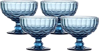 3 Ice Blue Glass Serving Pieces