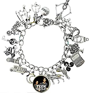 New Horizons Production Teen Wolf TV Series Assorted Metal Charms Bracelet