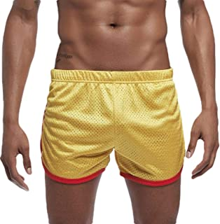 ZXFHZS Mens Pants Breathable Running Athletic Sports-Shorts Loose Short