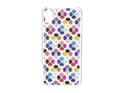 Kate Spade New York Foil Spade Phone Case for iPhone XS Max (Clear Multi) Cell Phone Case