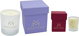 Montage Lifestyle Soy Wax Candle Gift Set - Serenity- Aromatherapy Candles for Sleep + Sensual with 100% Pure Essential Oils- Handmade in Greece