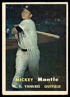 Baseball MLB 1957 Topps #95 Mickey Mantle EX Yankees