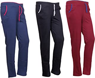 IndiWeaves Women's Regular Fit Trackpants (Pack of 3)