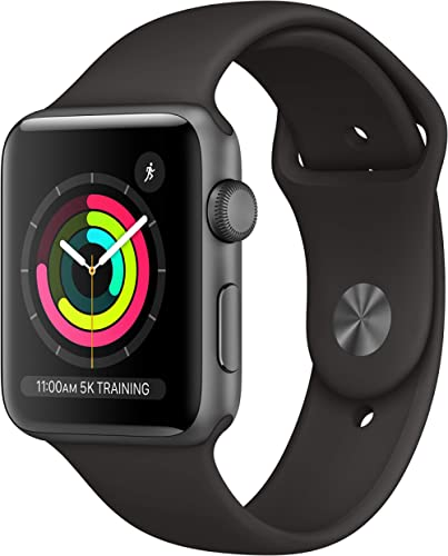 Apple Watch Series 3 (GPS, 42mm) - Space Gray Aluminum Case with Black Sport Band