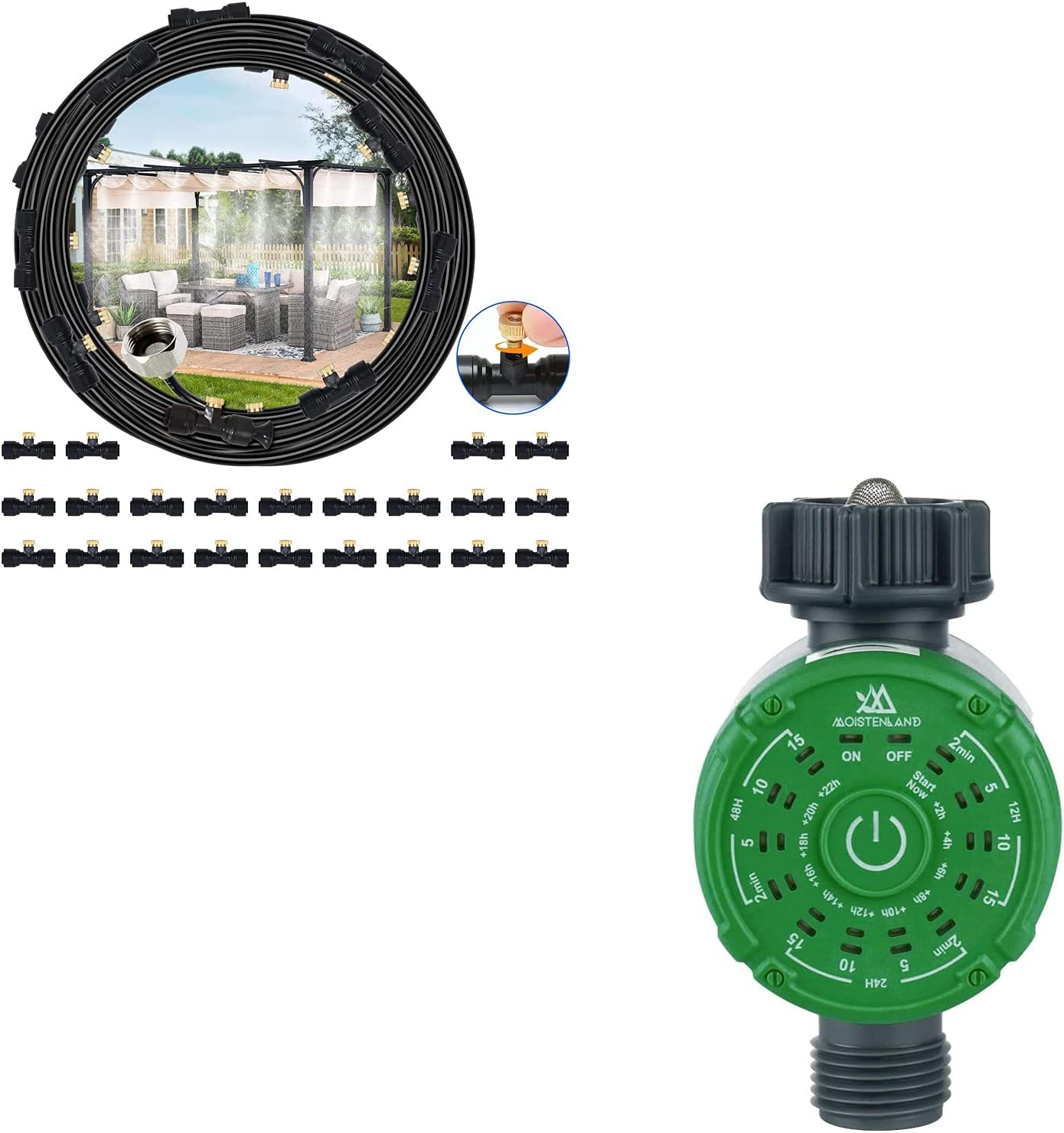 moistenland Misting System Super sale period limited Minneapolis Mall 18M Watering Hose Timer
