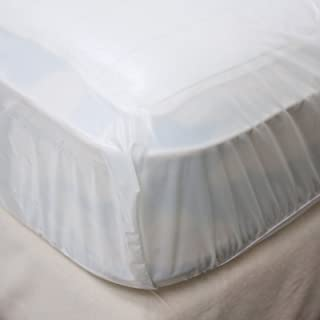 LeakMaster - King Sized Fitted Waterproof Mattress Cover - Protect Your Bed from Spills, Accidents and Damage - Stain Repellant, Comfortable and Quiet Premium Waterproof Mattress Cover (King)