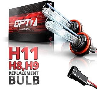 OPT7 2pc Blitz H11 Replacement HID Bulbs [6000K Lightning Blue] Xenon Light