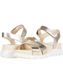 콜한 샌들 Cole Haan Zerogrand Crisscross Sandal,Soft Gold Metallic Leather