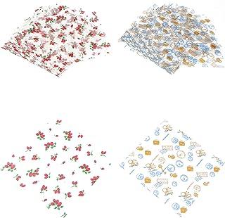 200 unidades de papel de cera de abeja, papel de papel de papel de alimentos, envoltorios para tartas, reutilizables, para...