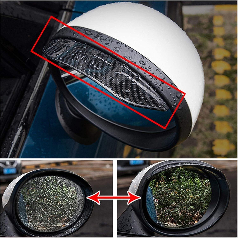 Color : Estilo Fibra Carbono OutdoorKing del Lado del Coche del Espejo Retrovisor Lluvia Guardia Modificaci/ón para Mini Cooper S JCW F54 F55 F56 F60 R55 R56 R60 R61 Coche Accesorios Exterior