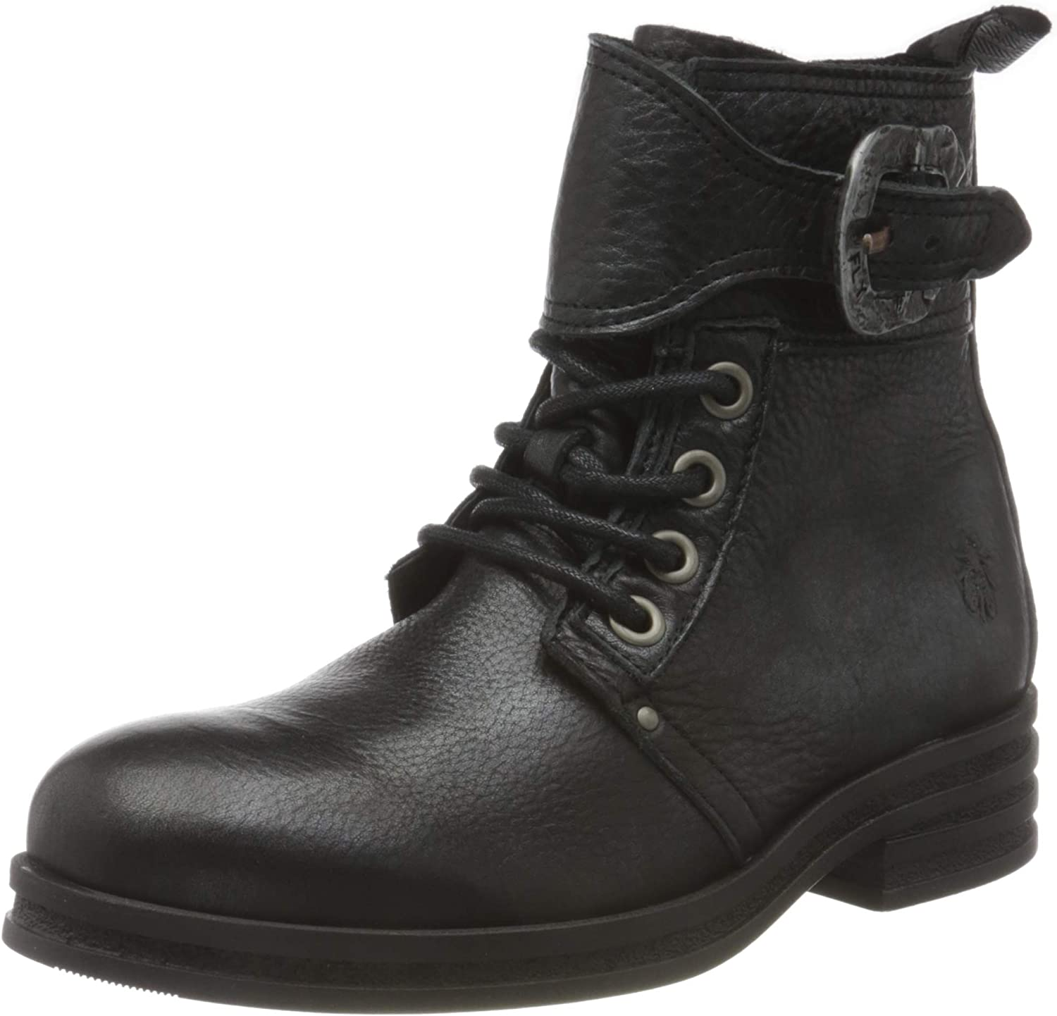 FLY LONDON Some reservation Women's KARA664FLY Quality inspection Black Combat Boot Silver