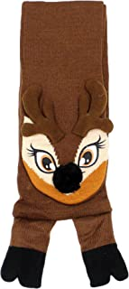 Elegant Headwear Womens Mens Festive Winter Holiday Christmas Knit Scarf With 3D Character