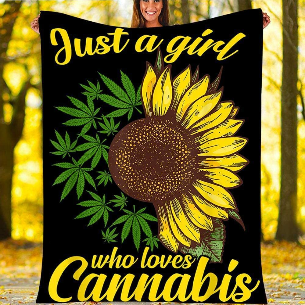 HNO Store Just A Girl Who security Sunflower Weed Cannabis Love Ultr Leaf Selling and selling