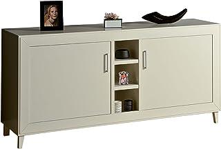 Madera & Design aparador Moderno Mueble Blanco Mate Dos Puertas estantes Salón Salón Cocina