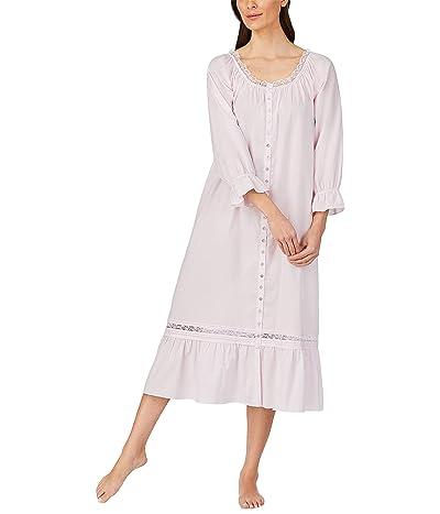 Eileen West Cotton Lawn Woven Long Sleeve Ballet Gown (Blush) Women