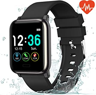 L8star Fitness Tracker Heart Rate Monitor-1.3'' Large...