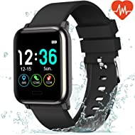 L8star Fitness Tracker Heart Rate Monitor-1.3'' Large Color Screen IP67 Waterproof Activity...