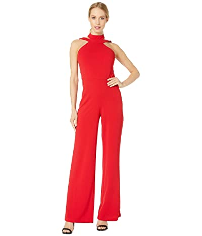 Bebe Choker Neck Jumpsuit (Red) Women