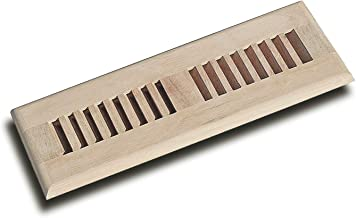 WELLAND 2X10 Unfinished White Oak Vent Wood Self Rimming Floor Register Vent Cover Grille,3/4