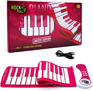 $39 » Rock And Roll It - Pink Piano [Limited Edition]. Portable & Flexible Electronic 37 Standard Keys. Cute Birthday/Holiday Musical Instrument Gift For Pink Lovers & Tweens. Build-In Speaker + Multi Tones