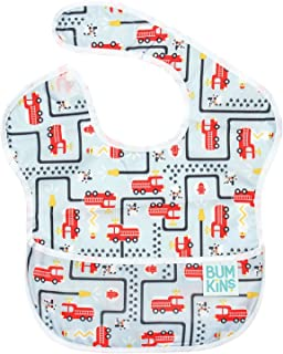 Bumkins SuperBib, Baby Bib, Waterproof, Washable, Stain and Odor Resistant, 6-24 Months – Fire Engine