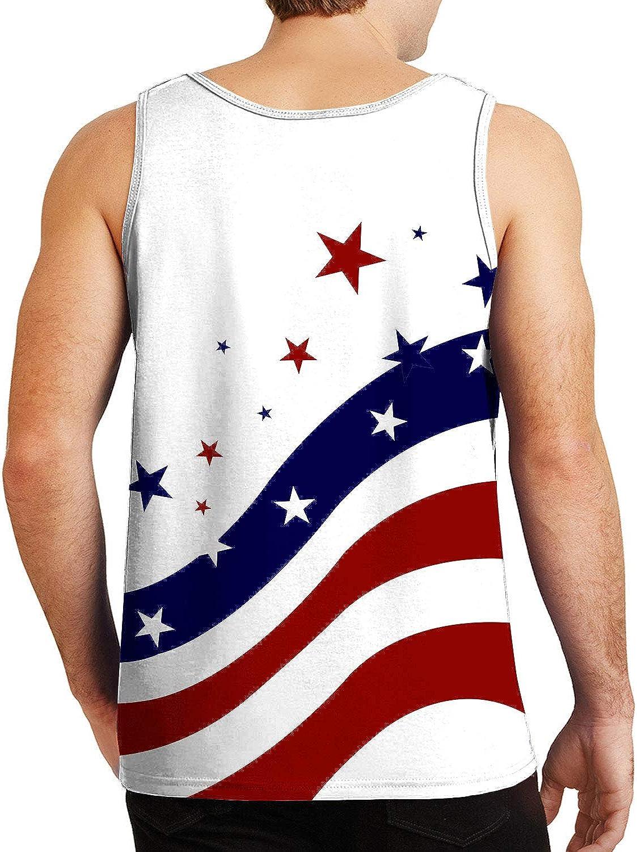 RAISEVERN 4th of July Mens Tank Tops American Flag Sleeveless Shirt USA Patriotic Tee
