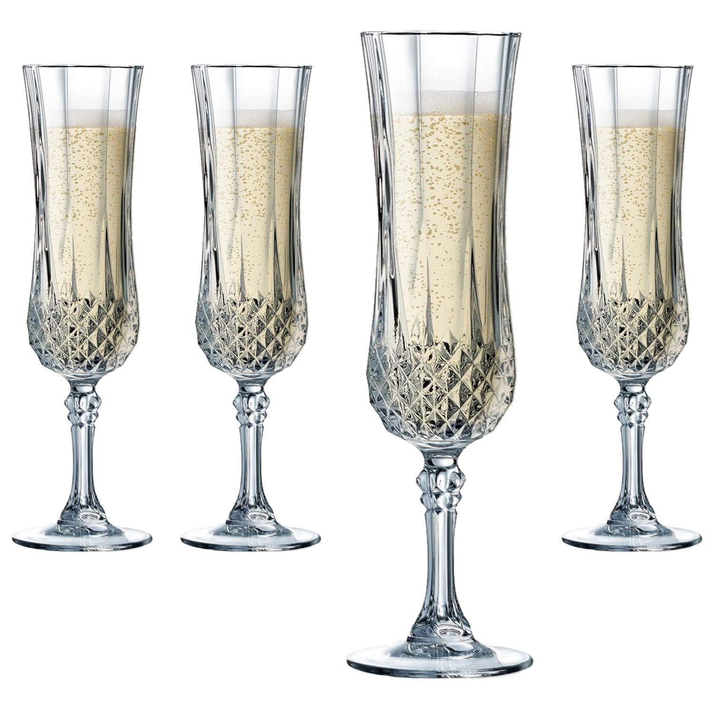 Cristal DArques Longchamp - Estuche de 6 copas alargadas, 14 cl: Amazon.es: Hogar